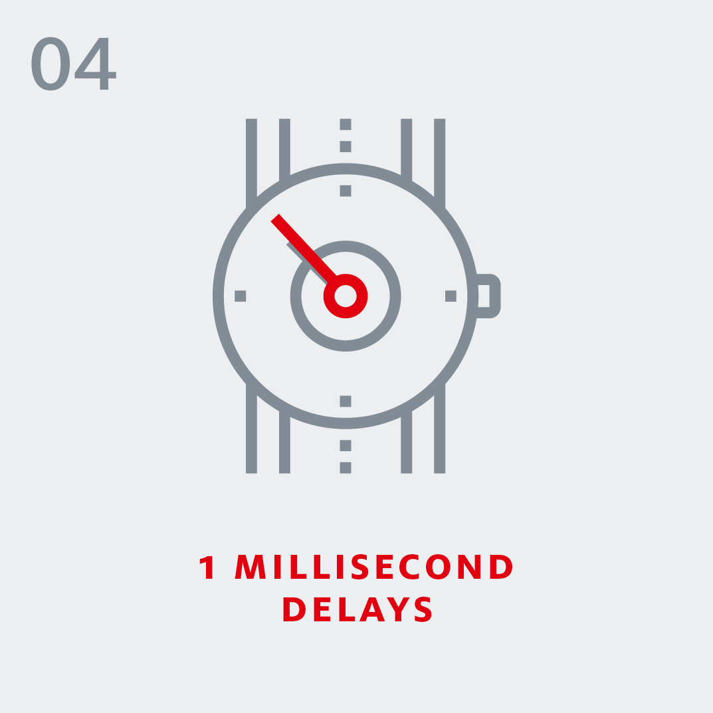 5G - 1 millisecond delays