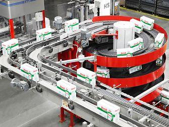 Waschmittel-Produktion am Standort in Düsseldorf (Deutschland)