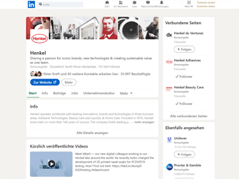 Henkel LinkedIn Screenshot