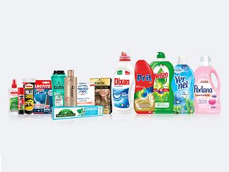 Una selezione dei prodotti Henkel in Italia.