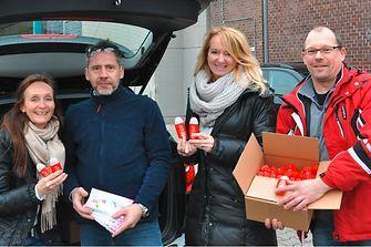 Über 200 Karnevalsvereine freuten sich über die Henkel Produktproben, die an den kommenden Tagen an die Karnevalisten verteilt werden
