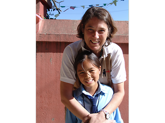 Susanne Volkmann met the child she sponsors, Avina Tamang, when she was just eight years old. They still keep in touch regularly.