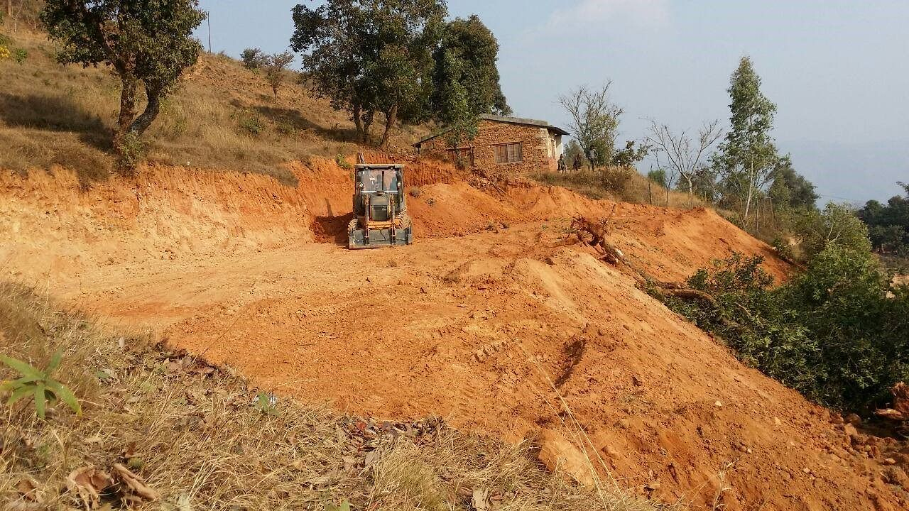 In the Nepalese village of Namjung, the mother and child medical center is being built.