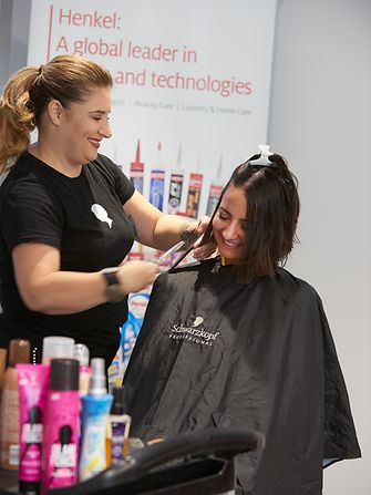 Nine Henkel employees donated 10+ inches of their hair to Locks of Love through the Schwarzkopf Million Chances hair donation event.