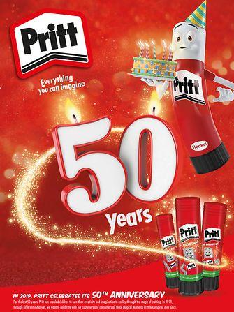 Egy híres márkanév ünnepli évfordulóját – a Pritt ragasztó stift 50 éves lett!