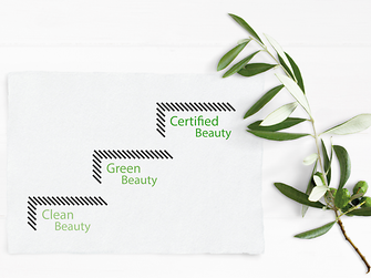 Infographic showing the three categories Clean Beauty – Green Beauty – Certified Beauty