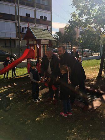 Gyöngyös Város Óvodái Jeruzsálem Úti Tagóvodája 2 millió forint értékű játszótér-felújítást nyert